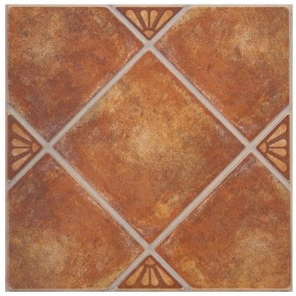Floor And Decor Ceramic Tile Real De Catorce Terracotta Ceramic Tile  13Inx 13In