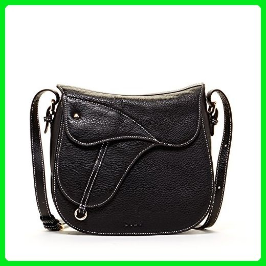 4dfffde7ce SUSU Leather Saddle Bag Black Crossbody Bags for Women Structured Bag with  Zipper Closure Saddlebag with Flap Designer Handbags Women s Cross body  Travel ...