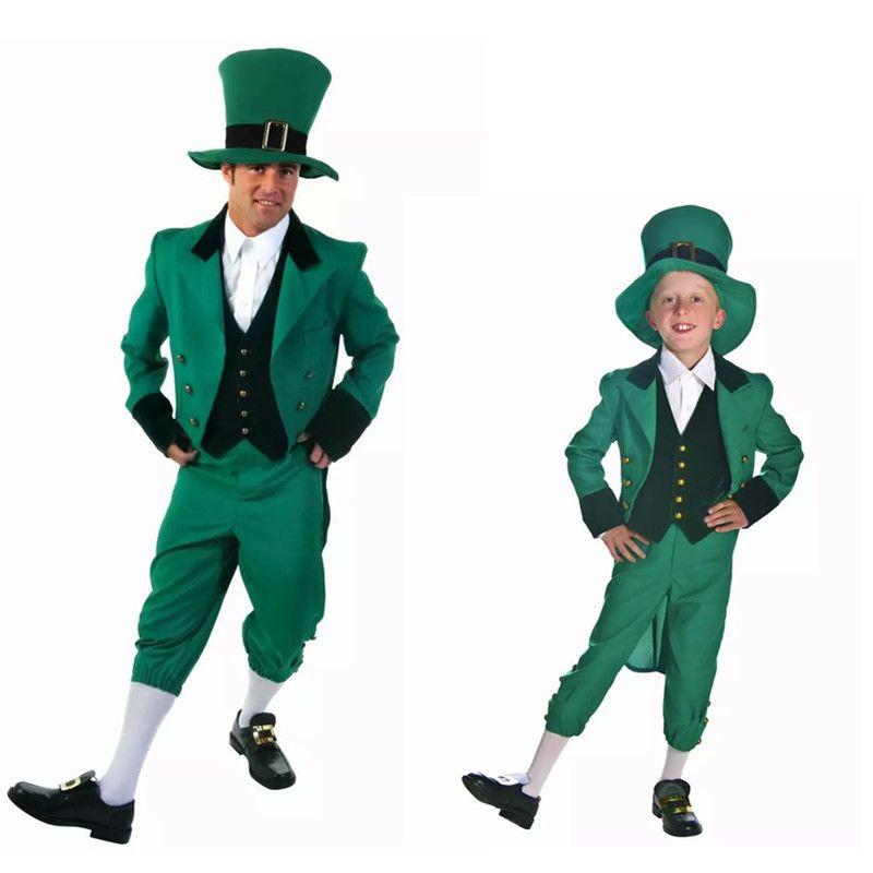 Livraison gratuite adulte dr le st patrick chanceux lutin irlandais mens costume de d guisement - Deguisement de groupe drole ...