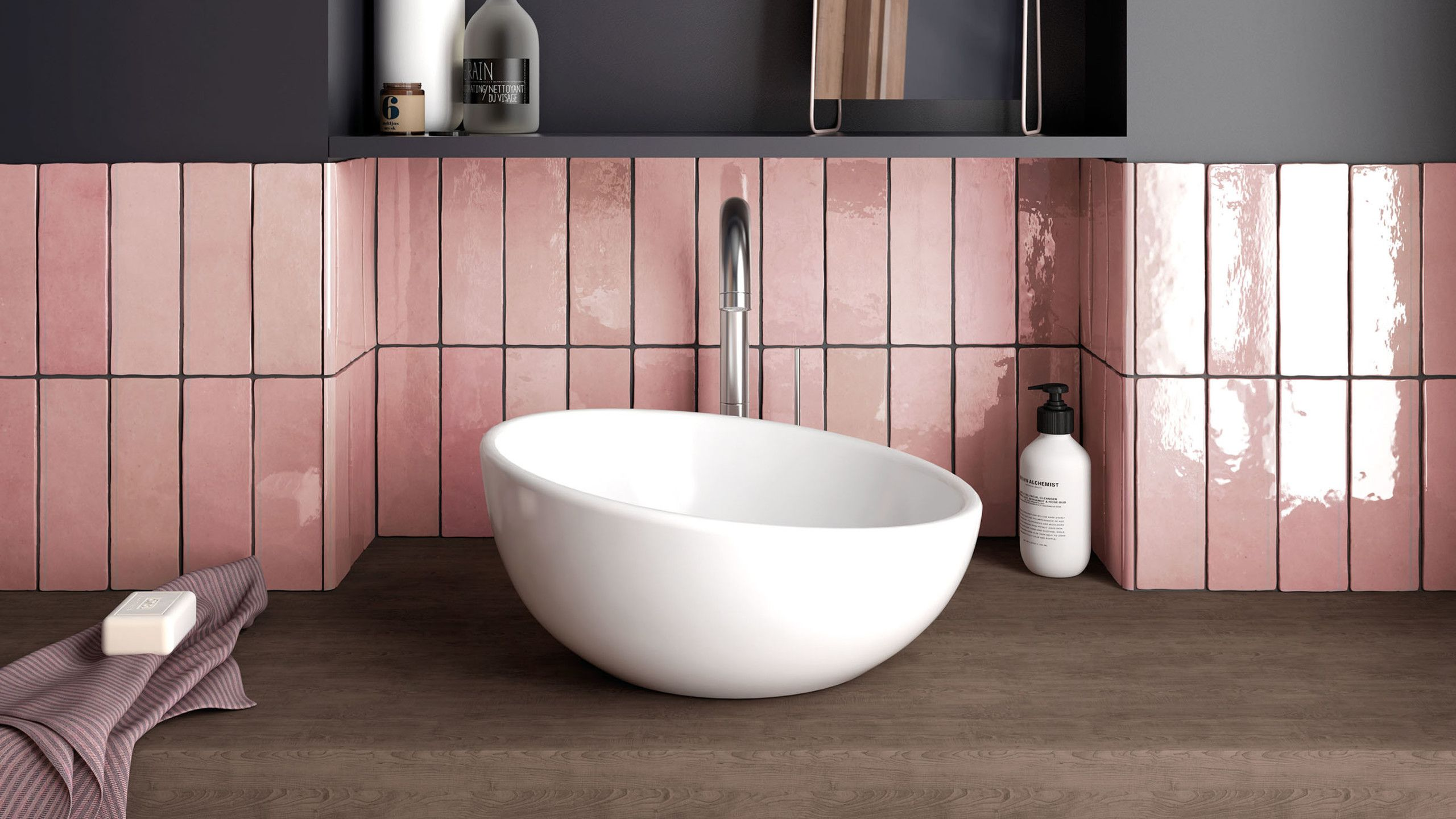 Cloe 2 5 X 8 Wall Tile In Pink Wall Tiles Bathroom Renovation Cost Colorful Interior Design