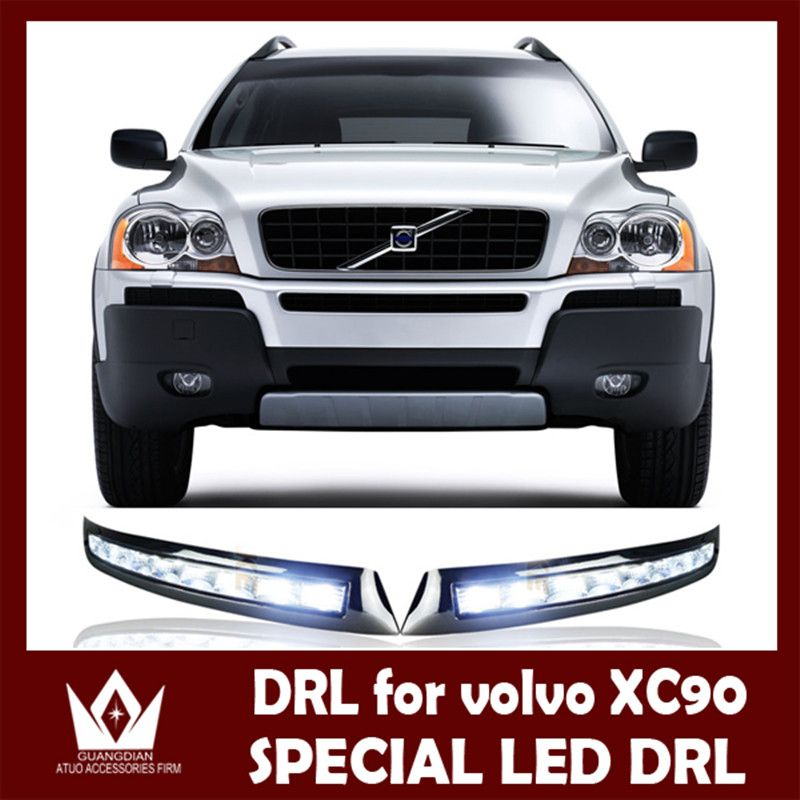 Night Lord 32led Cree Chip Abs 2007 2008 2009 2010 2011 2012 2013 Led Drl For Volvo Xc90 Drl Daytime Running Light Free Shippin Volvo Xc90 Volvo Led Fog Lights
