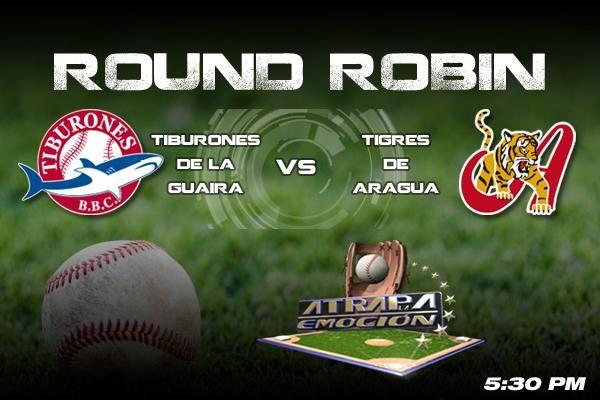 ¡A las 5:30 pm arranca el beisbol por Venevision! ¡Tiburones de La Guaira Vs Tigres de Aragua!
