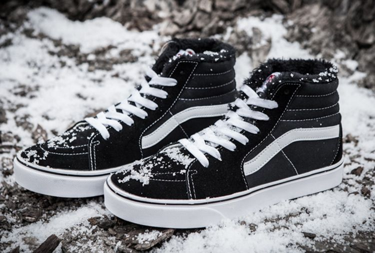 1537e58e93 Vans Black Suede Fur Inner SK8-Hi Winter Skate Shoes  Vans ...