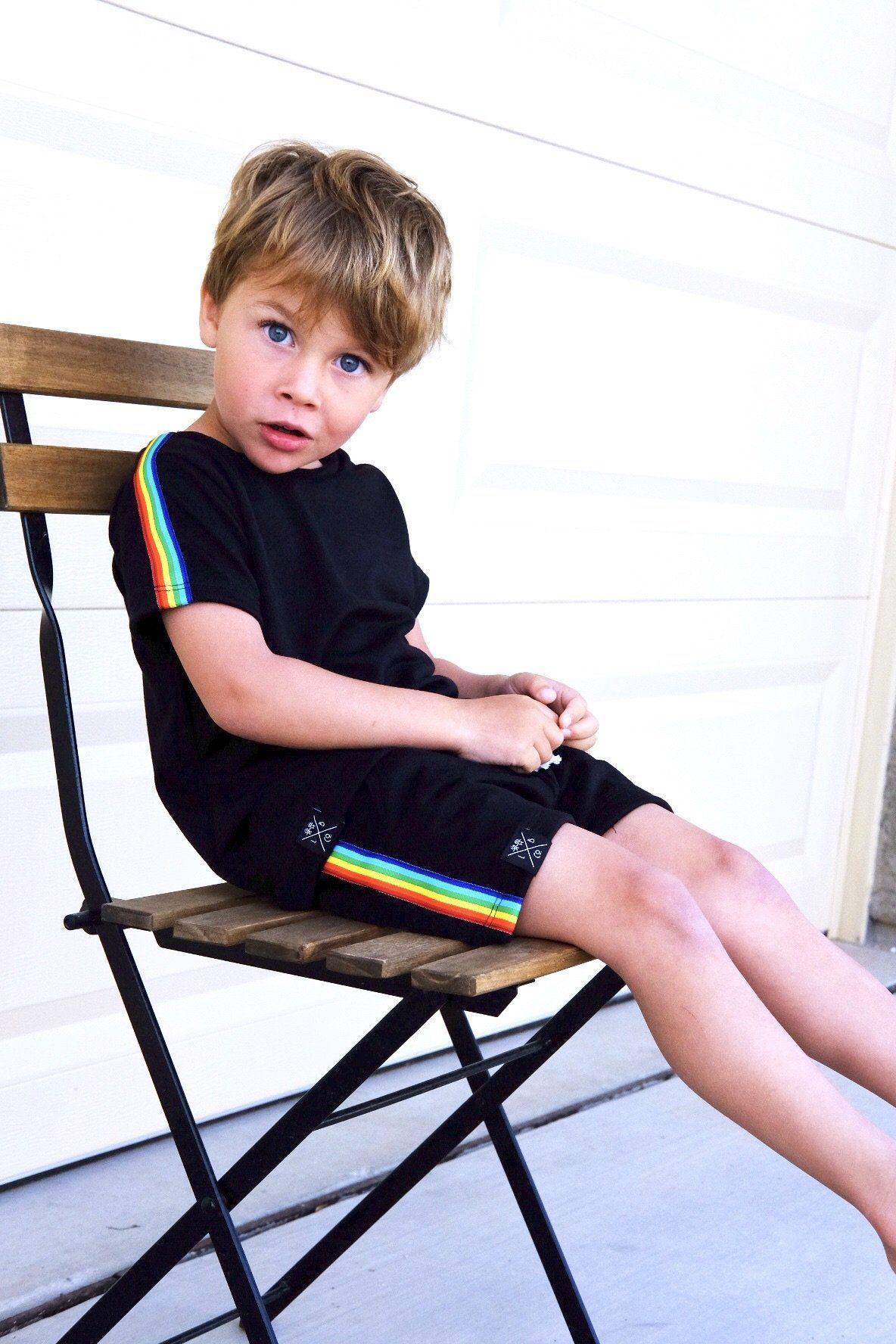 Retro Rainbow Stripe T-Shirt in 2020 | Baby boy clothes ...