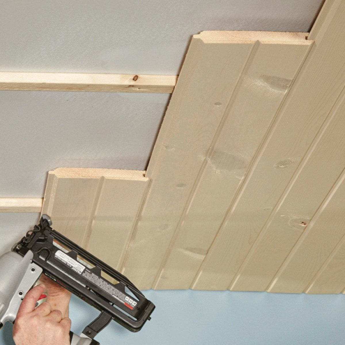 How to Install a Tongue and Groove Ceiling | Tongue ...