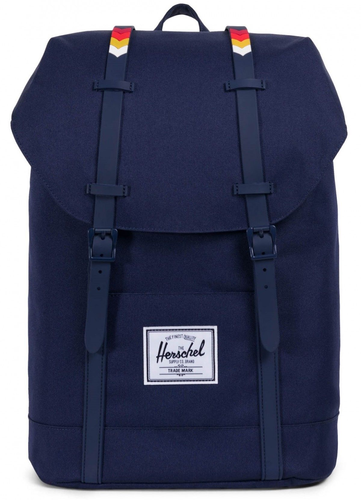 d9cb1248691b Herschel Retreat Backpack Poly Peacoat Rainbow Chevron