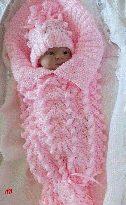 Lovely Warm Swaddle | knitting | Pinterest | Baby knitting ...
