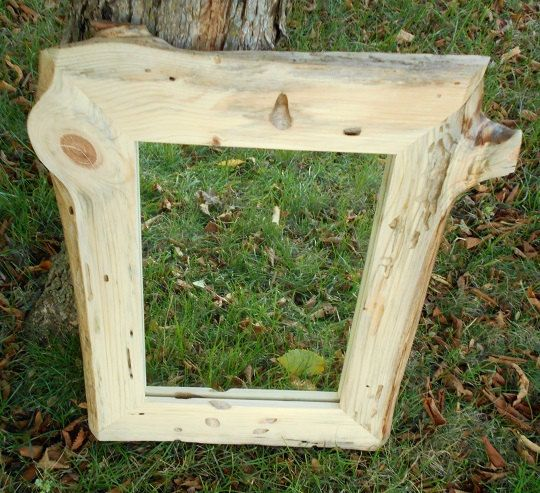 Rustic Framed Mirror Red Pine Mirror Frame by AlongtheRidge, $125.00 ...