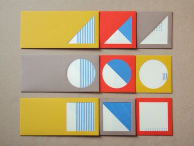 Primary Card Set / from Present & Correct. gotta love those shapes. #stationary #notecard #geometry.