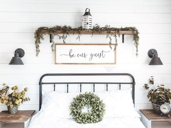 Be Our Guest Sign Guest Room Sign Farmhouse Guest Room In 2020 Bedroom Wall Decor Above Bed Guest Room Sign Guest Room Decor