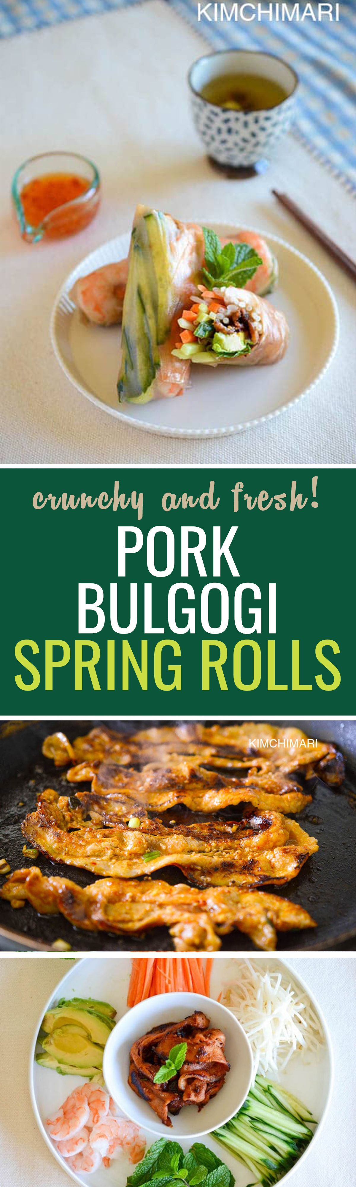 A fusion modern recipe indulge in these healthy pork bulgogi spring a fusion modern recipe indulge in these healthy pork bulgogi spring rolls healthy weeknight dinnerskorean food forumfinder Choice Image