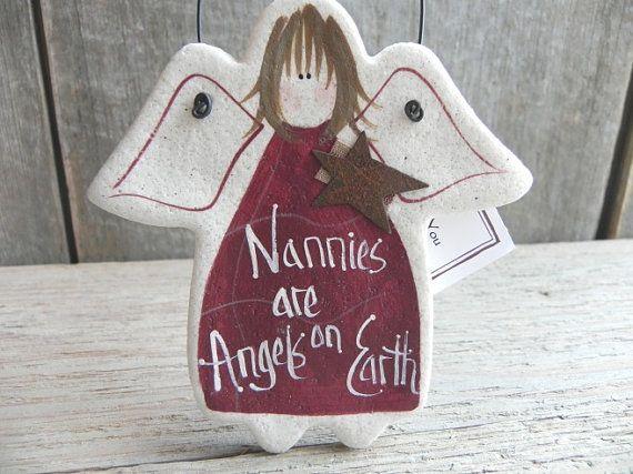 Nannies Gift Salt Dough Babysitter by cookiedoughcreations
