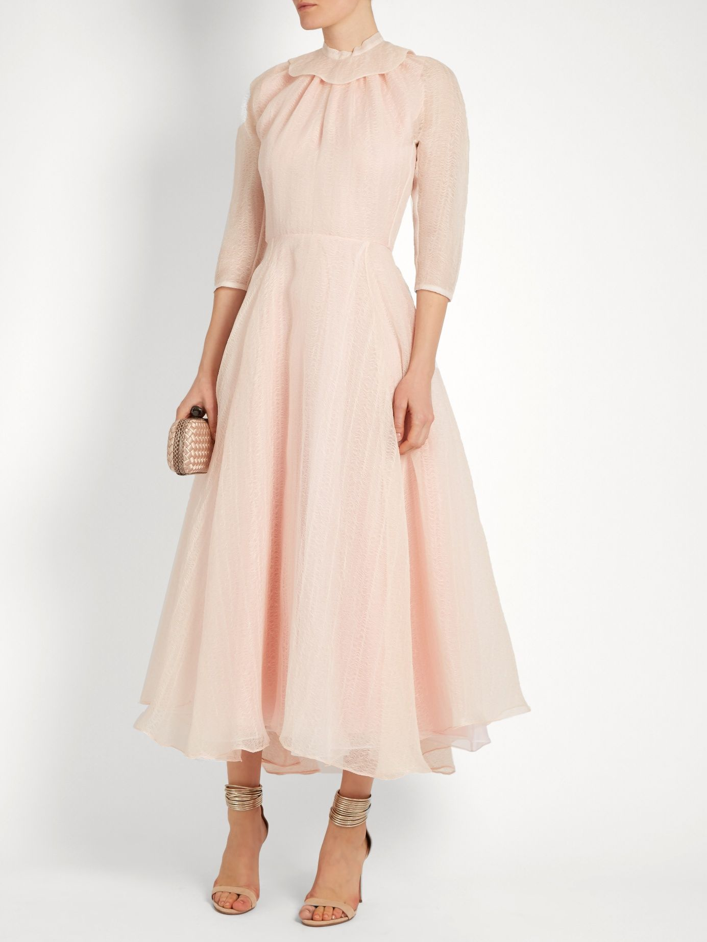 Hera Ruffled Organza A Line Dress Emilia Wickstead