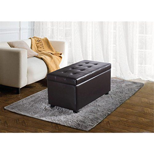 Metro Shop Essex Medium Rectangular Brown Faux Leather Storage Ottoman  Bench Essex Medium Rectangular Storage Ottoman | Console Tables | Pinterest  | Storage ...