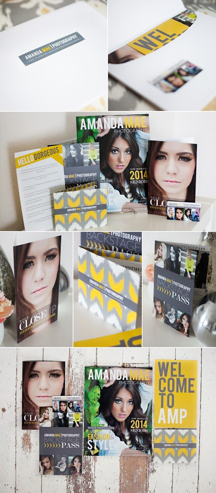 Love this branding! AMANDA MAE PHOTOGRAPHY: AMP Welcome Packages : Amanda Mae Photography Washing Senior Photographer