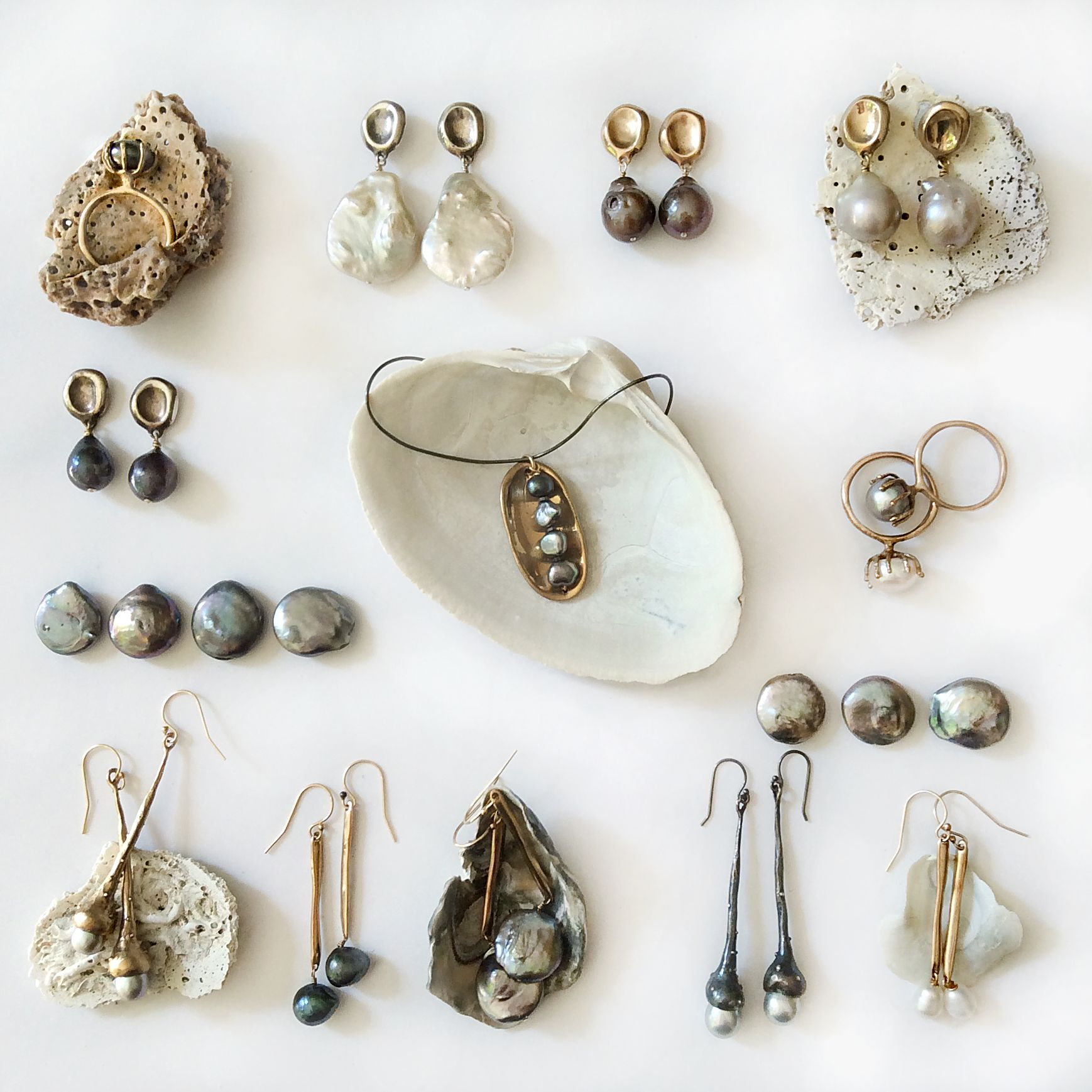 Different Pieces From My Jewelry Collection Of Earrings