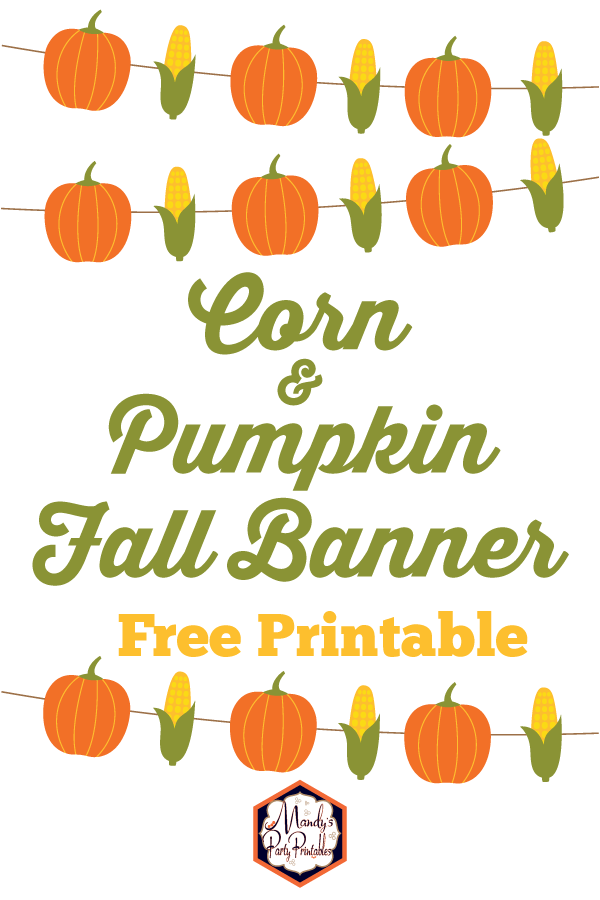It is a graphic of Fall Banner Printable intended for birthday