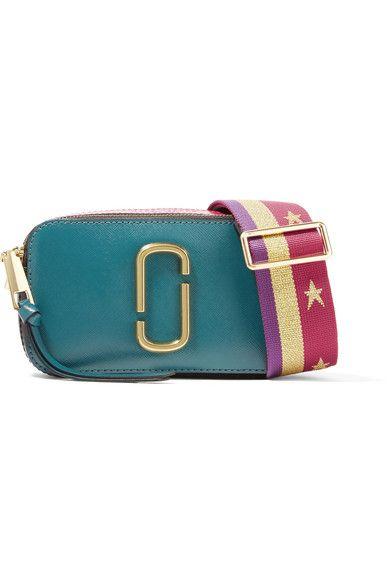 MARC JACOBS Snapshot Color-Block Textured-Leather Shoulder Bag.  marcjacobs   bags  shoulder bags  leather   8b0284137b6d