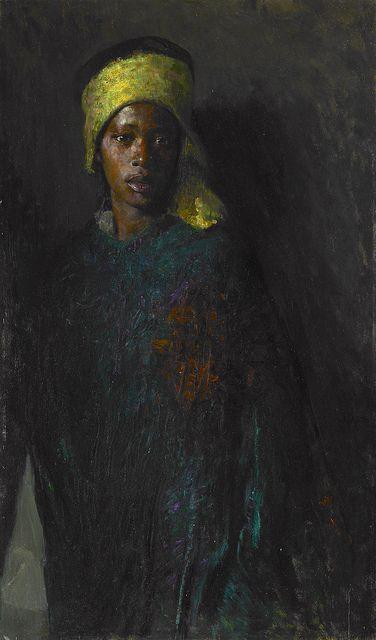 """Guardian of the Seraglio"" by Hovsep Pushman (Armenian-born American 1877-1966)"