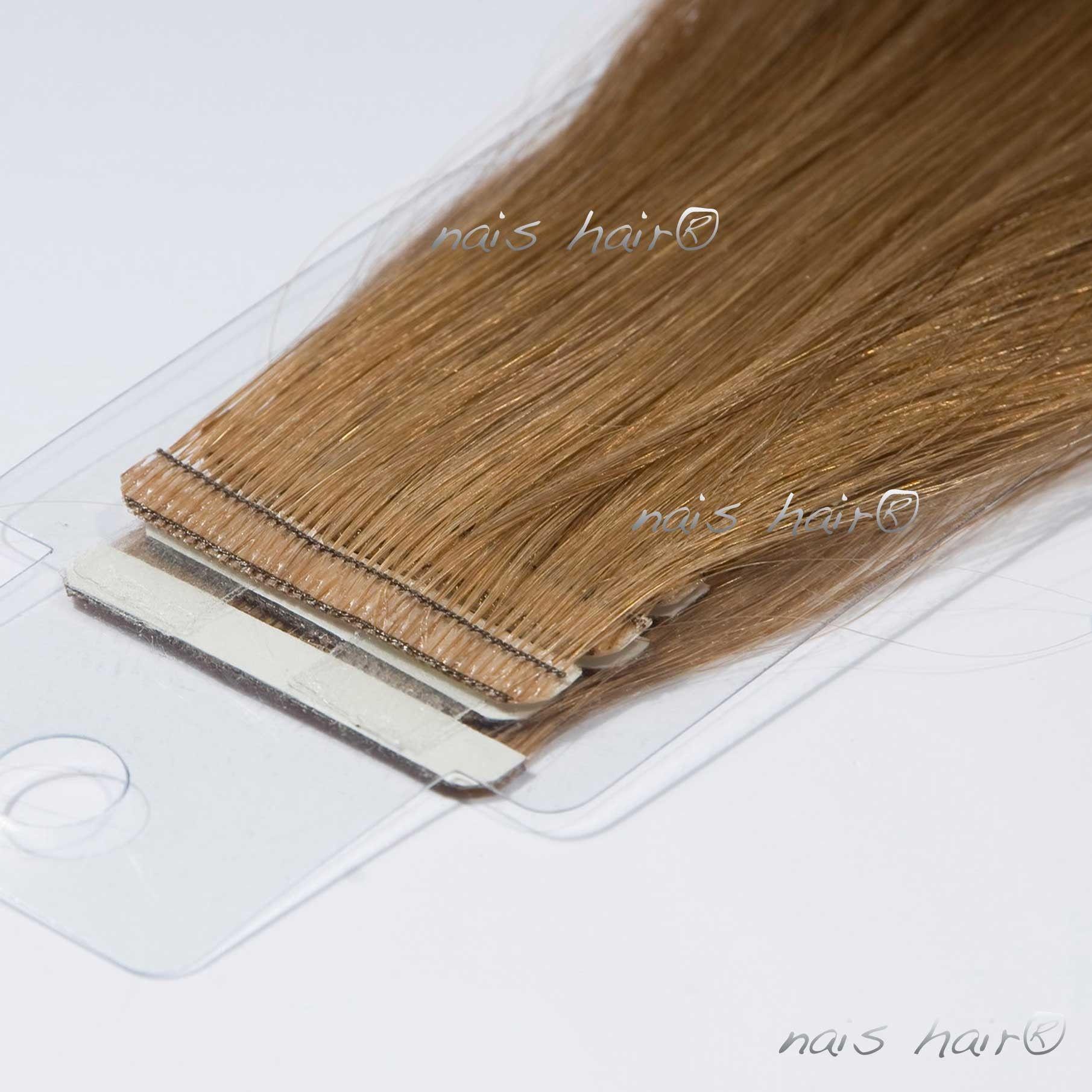 Mega Hair Fita Adesiva 8 Castanho Claro 50cm Tape In Hair