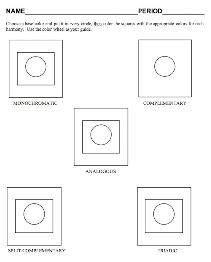 Color Scheme Worksheet Printables Pinterest Color Theory Art
