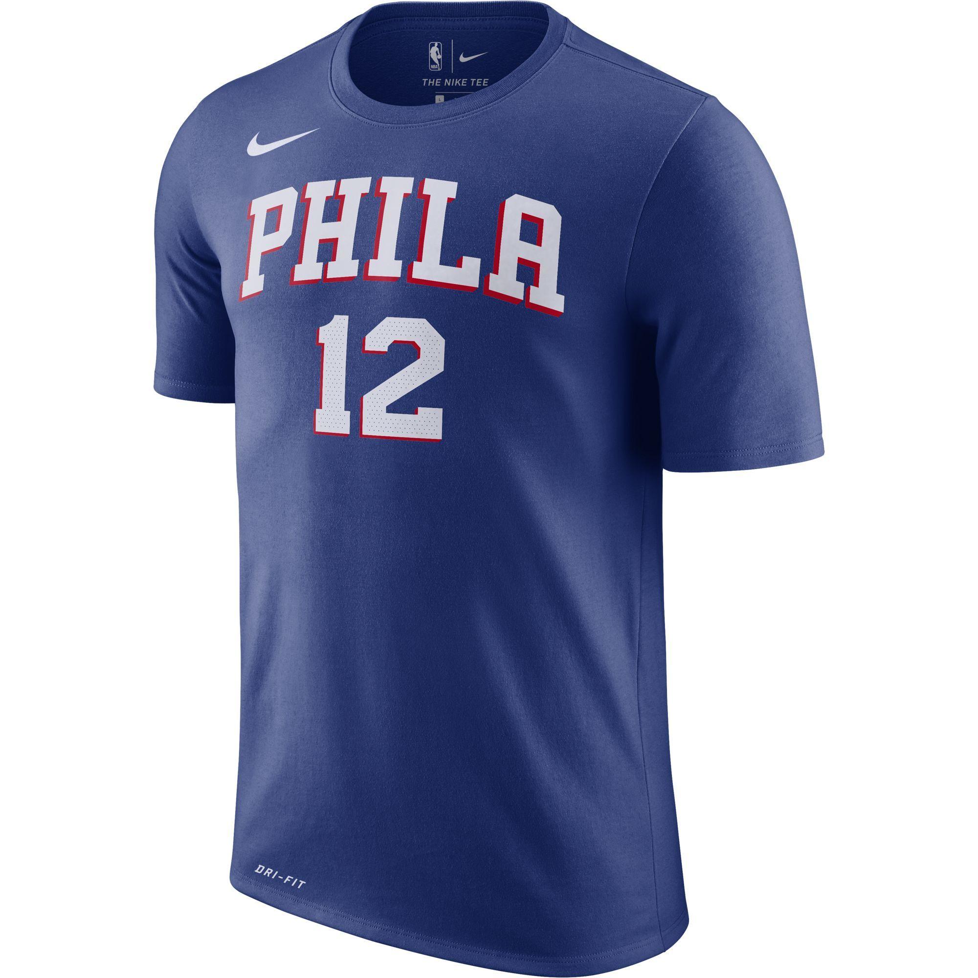 Philadelphia 76ers Men s Joel Embiid White Earned Edition Player Tee ... aaa242228
