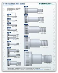 Us Shoulder Bolt Size Chart