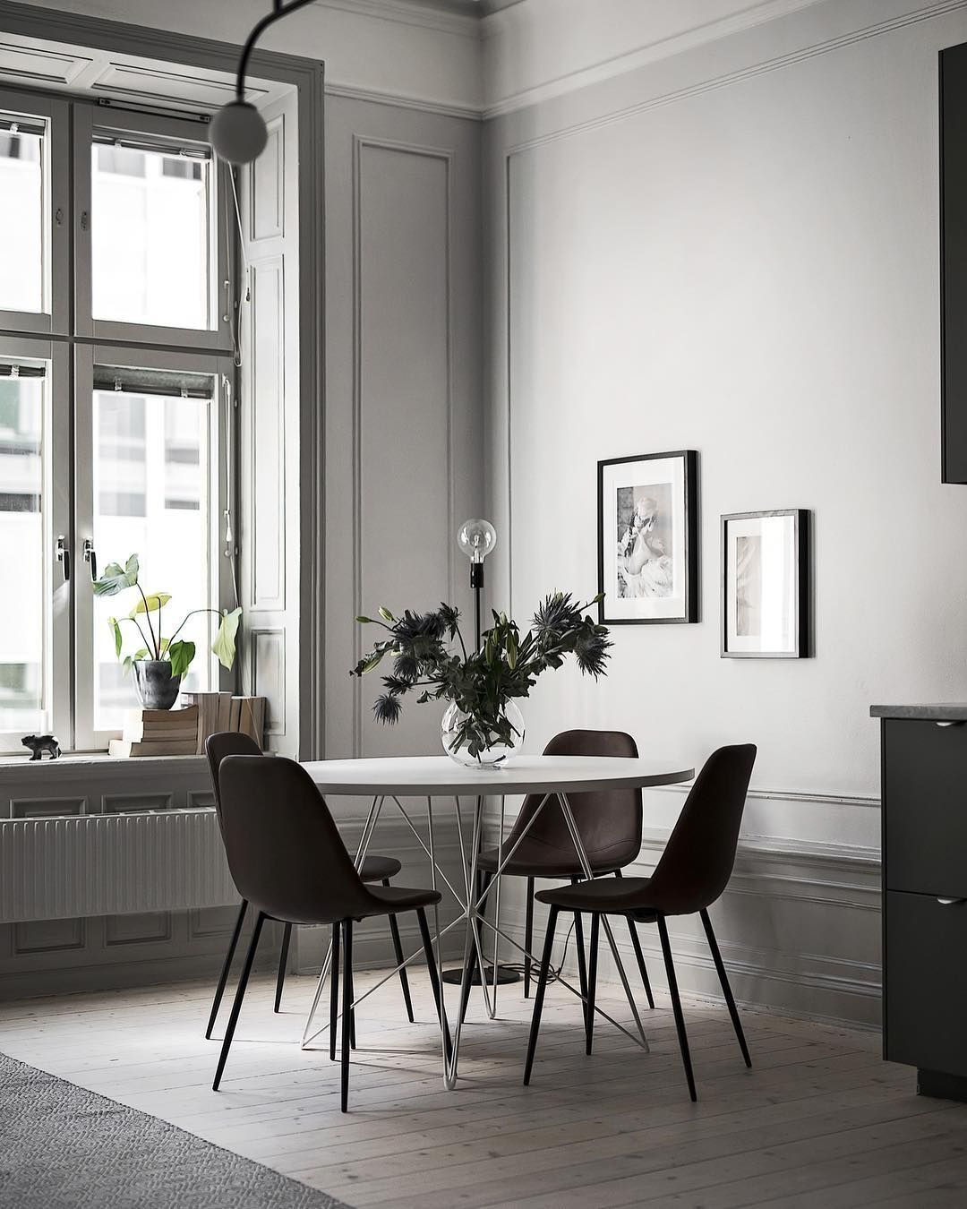 Simple Modern Dining Room Wall Decor Interieur Woonkamer Tafel