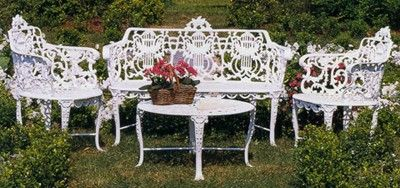 Garden Furniture White moultrie manufacturing - rose & lyre garden furniture | white on
