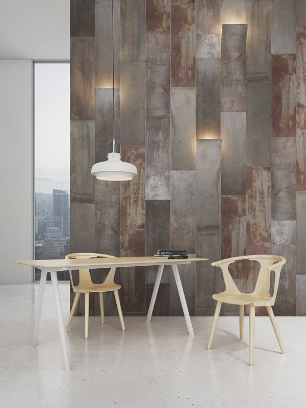 Rampa 90x30cm Rusted Metal Architecture Amp Design Wall