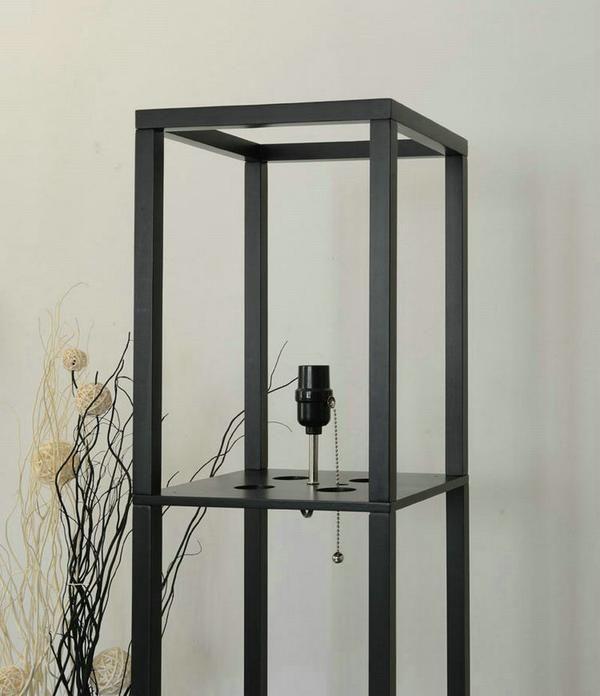 Modern Led Decorative Wooden Loft Floor Lamp Black White 400 x 300