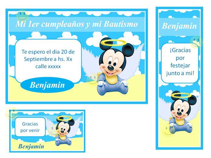 11 Bonitas Invitaciones Para Baby Shower De Mickey Bebé 7