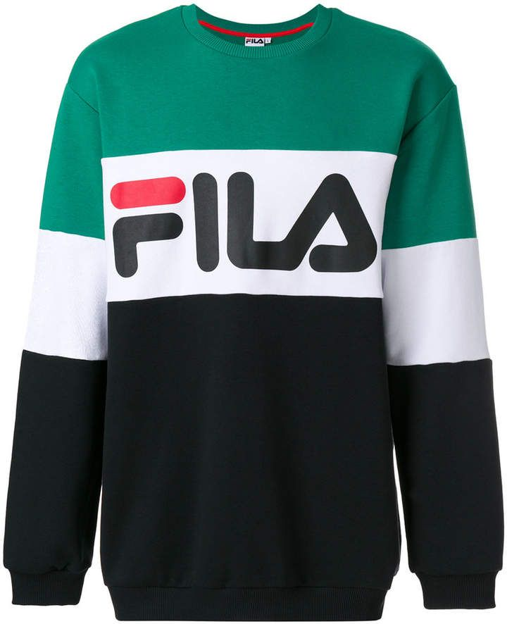 Fila logo colour block sweatshirt  a80446820ed