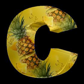 Alphabets By Monica Michielin Pineapple Texture Alphabet And Icons Png Bonus Alfabeto Textura Abacaxi E Icones Png Alphabet Pineapple Alphabet Art