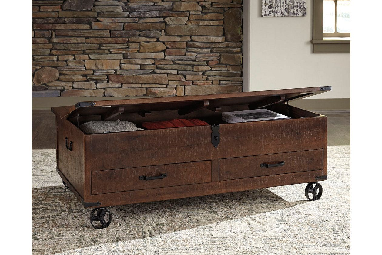 Norlandon coffee table with storage ashley furniture homestore