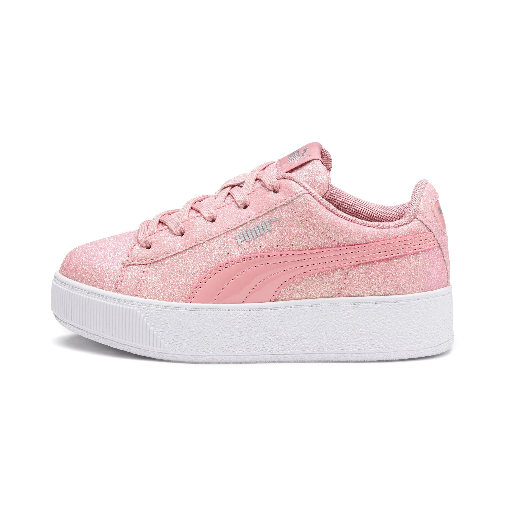 PUMA Vikky Platform Glitz Girls' Trainers in Bridal Rose