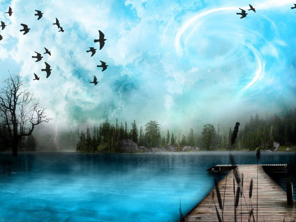 Art Nature 3d Nature Wallpapers Cool 3d Desktop Background Wallpapers Beautiful Paintings Of Nature Nature Art Nature Paintings