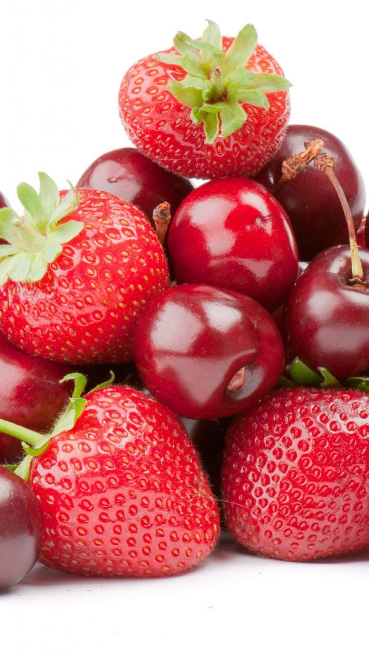 Download Wallpaper 720x1280 Cherries Berries Strawberries Samsung Galaxy S3 Hd Background Berries Strawberry Fruit Hd wallpaper red fruit cherries berries