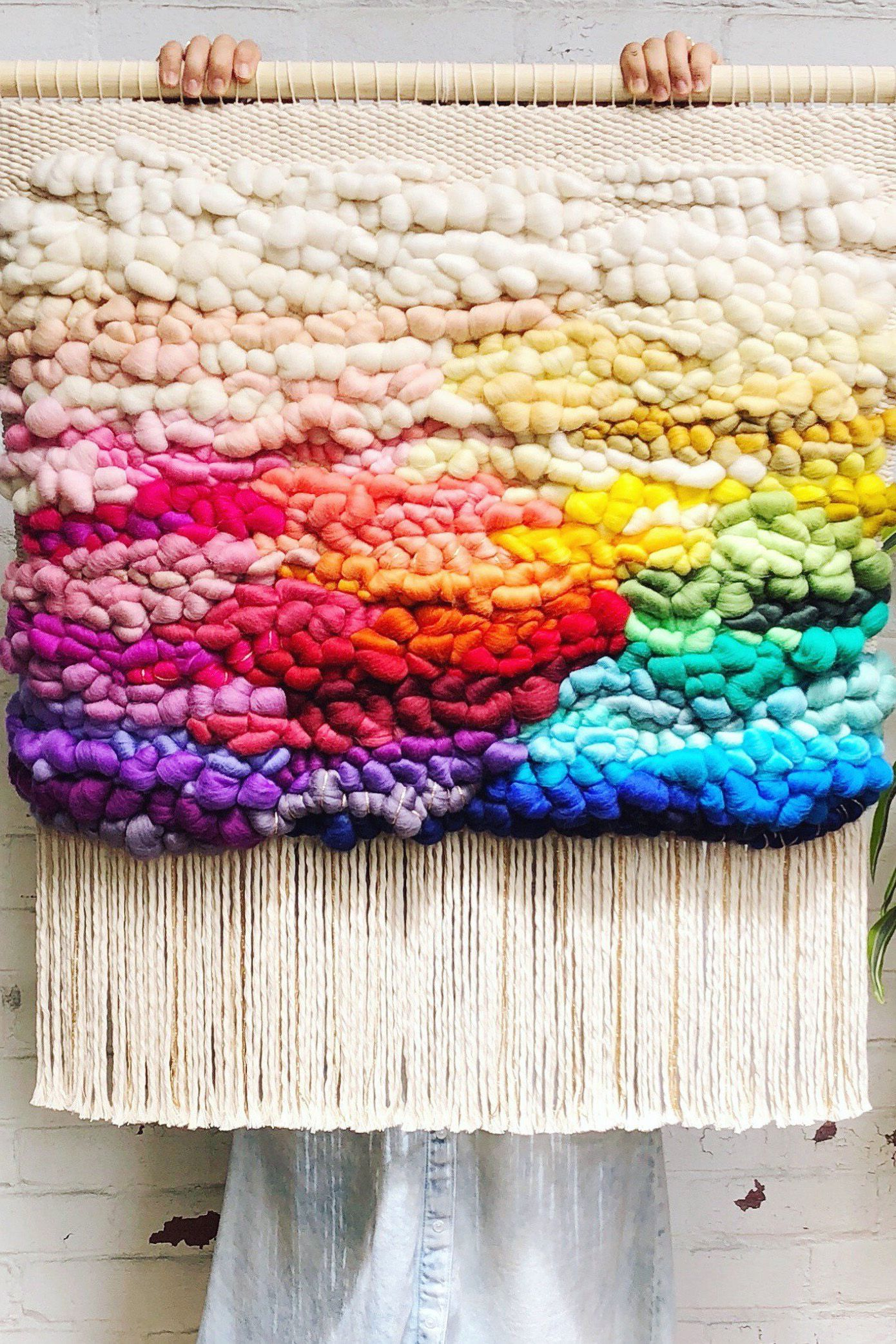 Rainbow Large Woven Wall Hanging Made To Order Wall Hanging Weaving Tapestry Woven Wall Art Home Decor Large Woven Wall Hanging Woven Wall Art Woven Wall Hanging