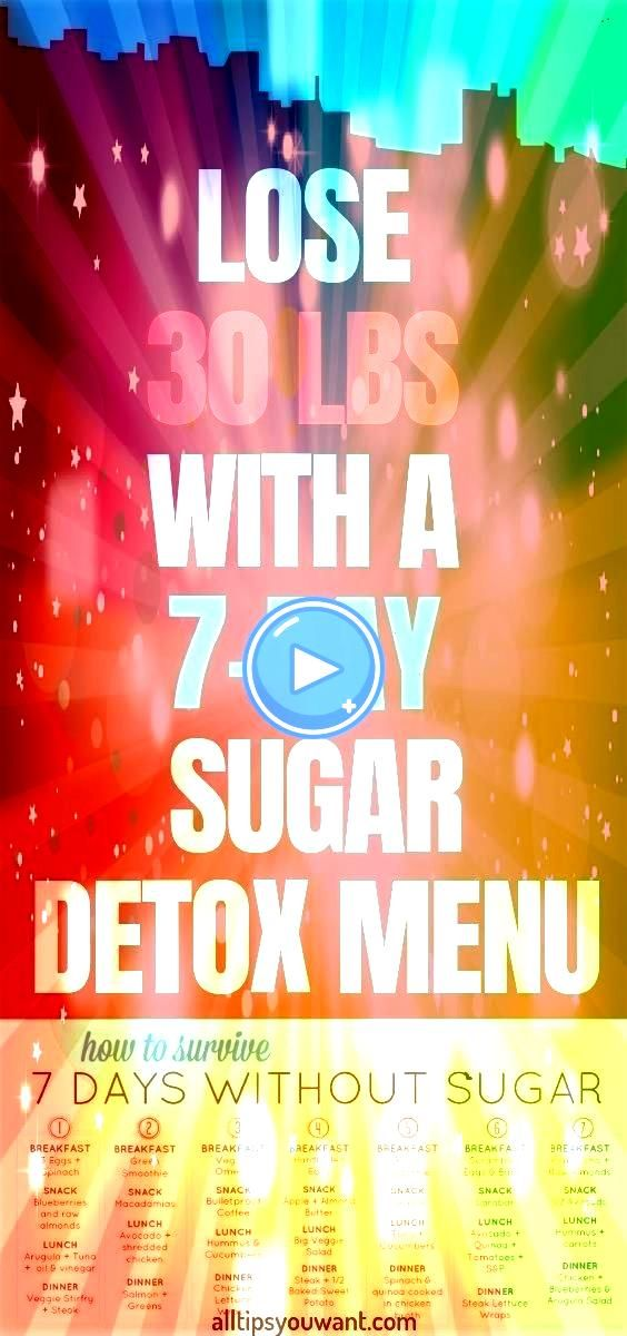 LBS WITH A 7DAY SUGAR DETOX MENU PLAN If we are being honest then it is the time that you need a sugar detox We all know the dangerous effects that it can have for our he...