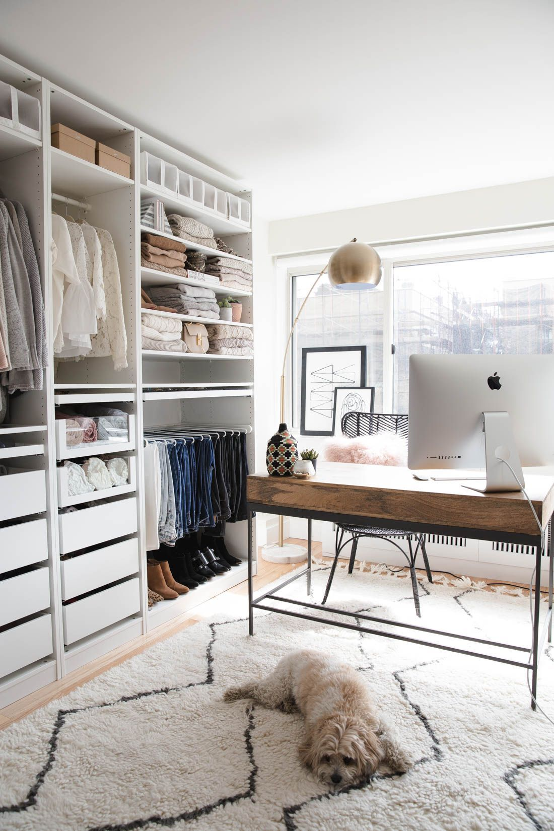 MY CLOSET/OFFICE REVEAL Ikea pax wardrobe, Closet office