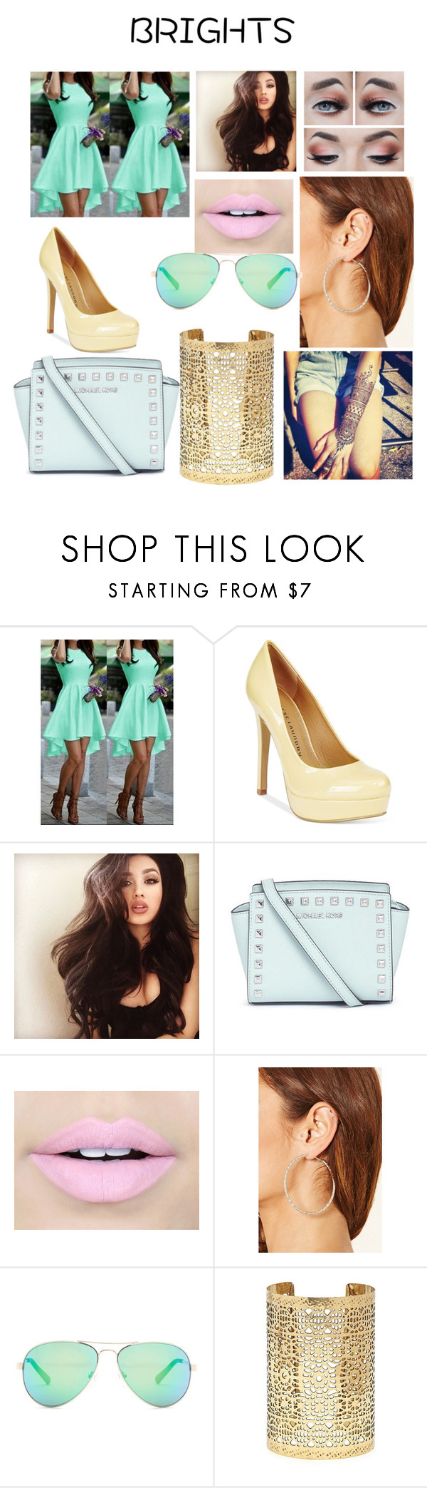 """""""Untitled #140"""" by moyersk on Polyvore featuring Chinese Laundry, Michael Kors, Fiebiger, Forever 21, GUESS and summerbrights"""