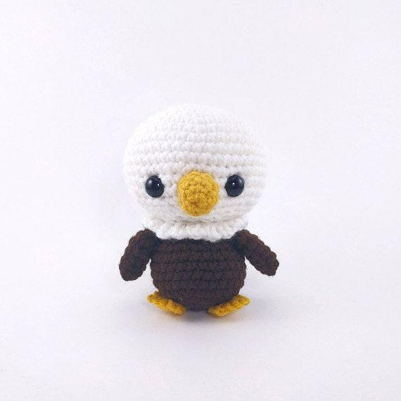 PATTERN: Crochet eagle pattern amigurumi eagle pattern | Crochet ...