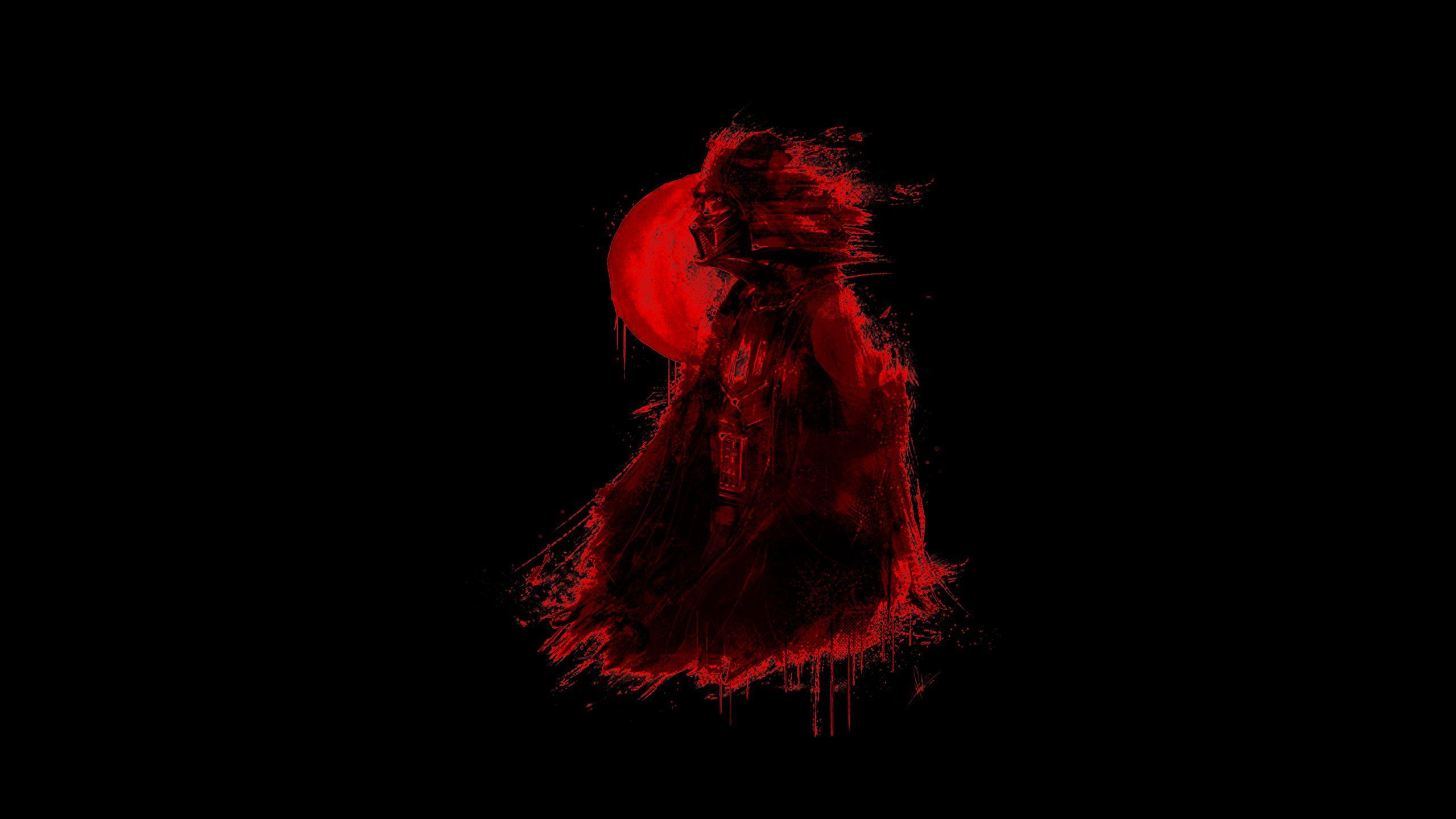 Stylized Red Vader For Black Amoled Screens 2560 1440 Jpg 2560 1440 Dark Background Wallpaper Joker Iphone Wallpaper Samsung Wallpaper Android