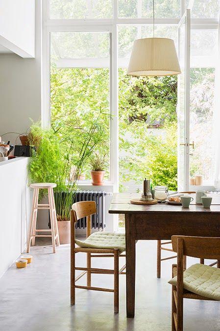 Love the green en the wood | Sale da pranzo moderne, Sala ...