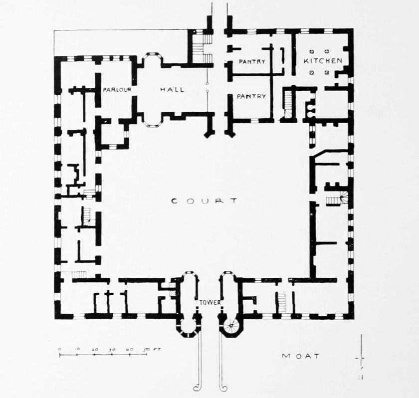 Oxburgh Hall Norfolk Architecture Mapping How To Plan Floor Plans
