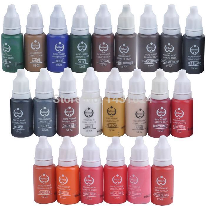 Find More Tattoo Inks Information About 23permanent Makeup Micro Pigment Color Cosmetic Tattoo Ink For Permane Makeup Pigments Tattoo Ink Sets Permanent Makeup