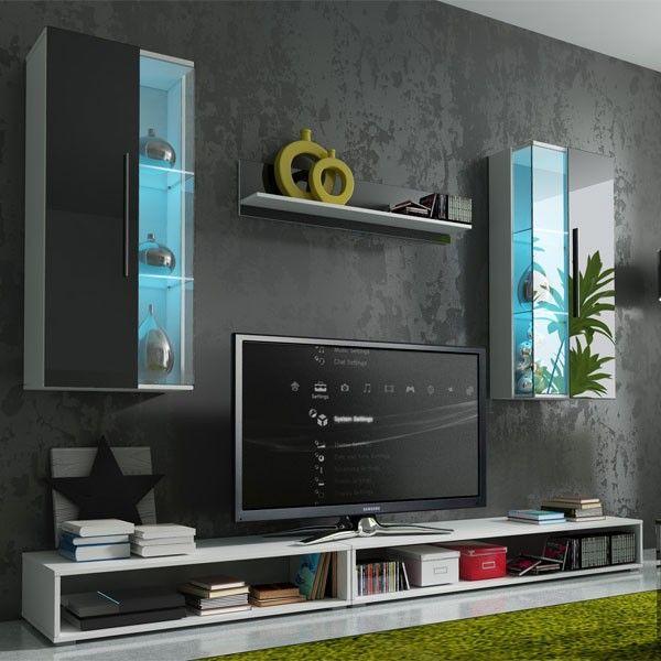 Choisissez la simplicité de l\u0027ensemble TV EPSILON pour votre salon - Meuble Tv Avec Rangement