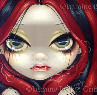 Faces of Faery 99 Jasmine Becket-Griffith art CANVAS PRINT vampire fairy gothic