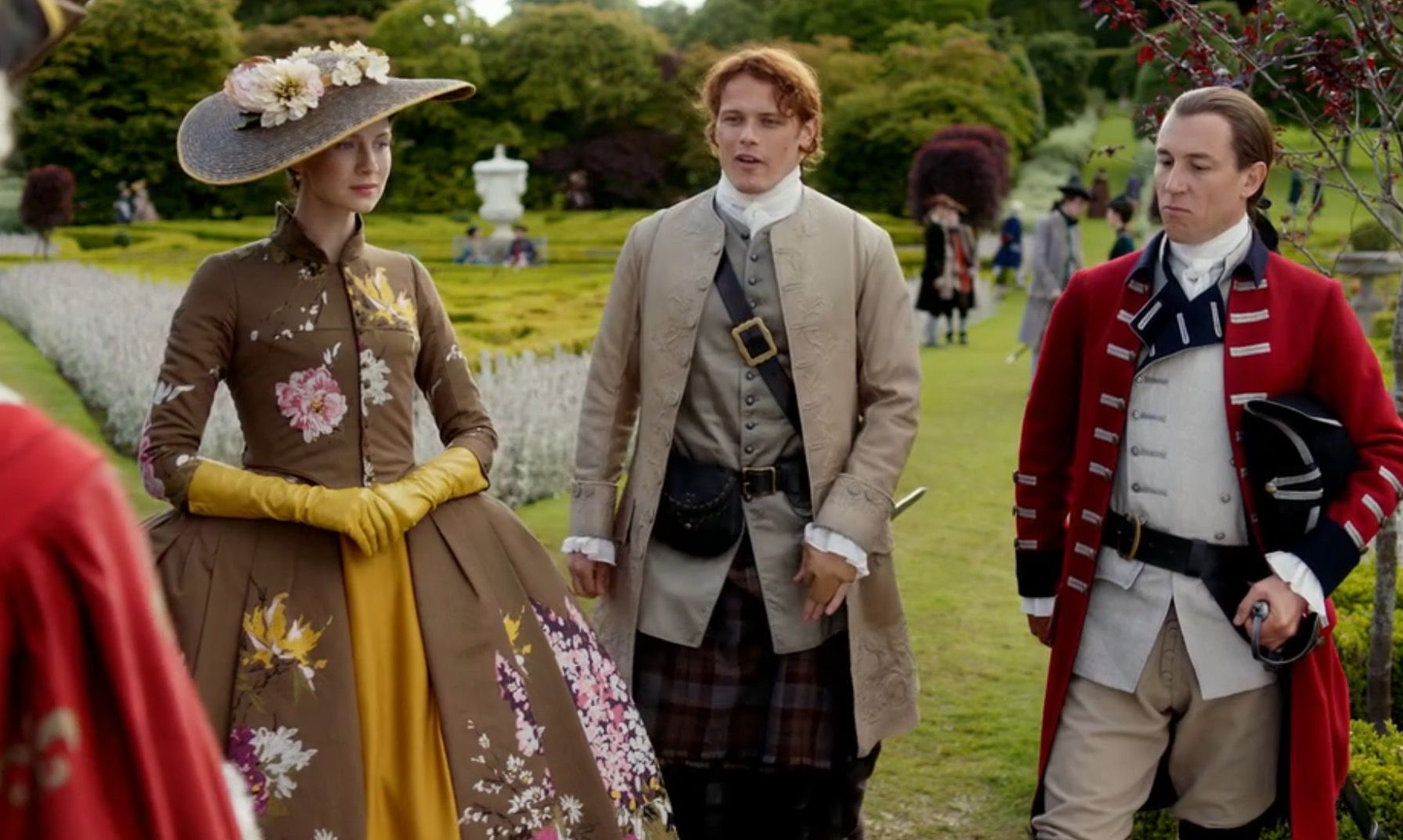 Jamie, Claire and Black Jack at Versailles. Episode 205